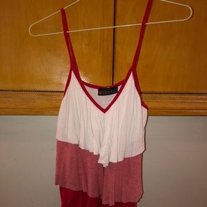 BODY CENTRAL 3 LAYER TANK TOP.